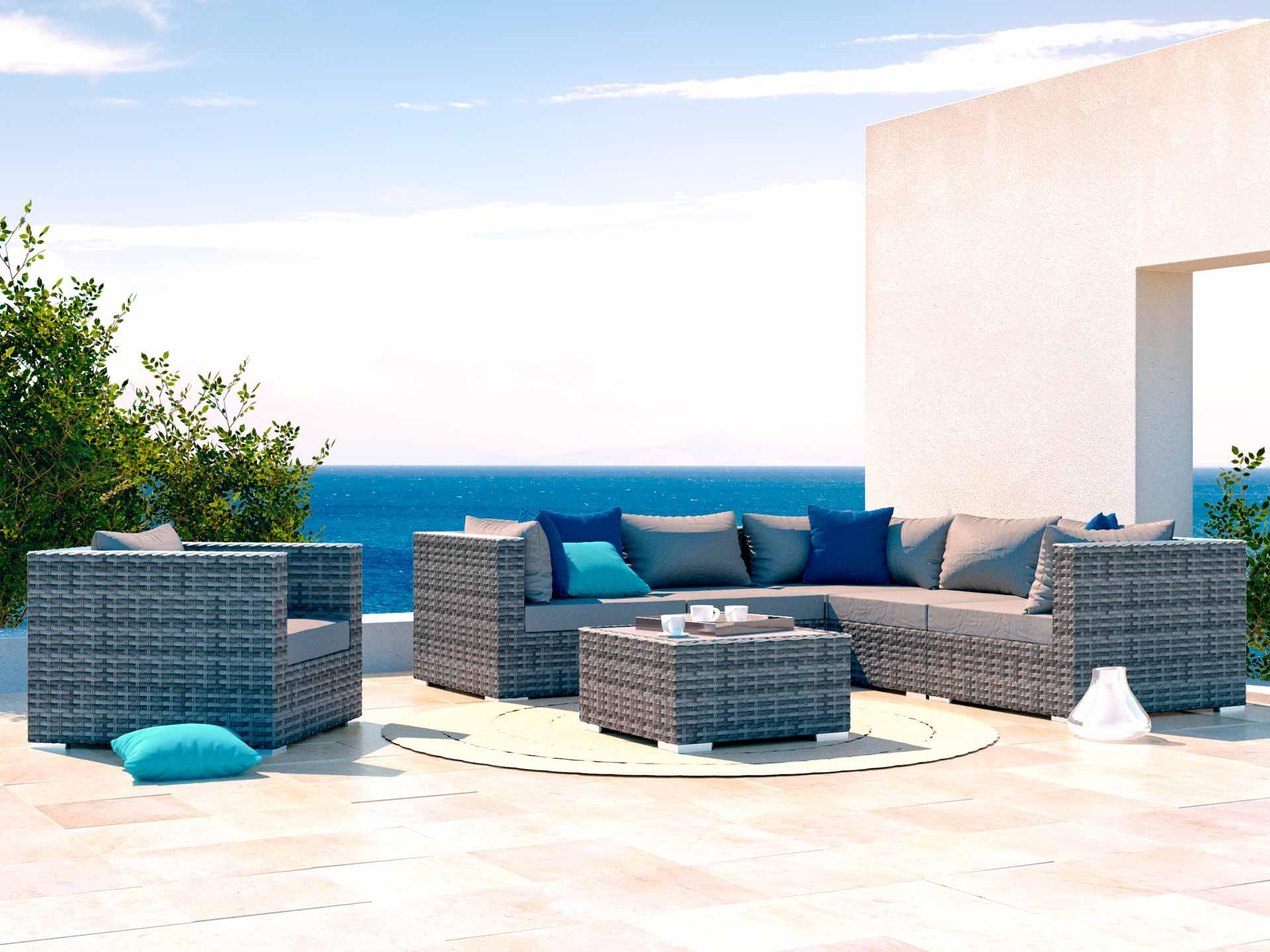 artelia salotto da giardino epona. Black Bedroom Furniture Sets. Home Design Ideas