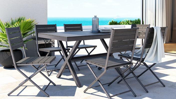 Pimeria - Set da pranzo in polywood