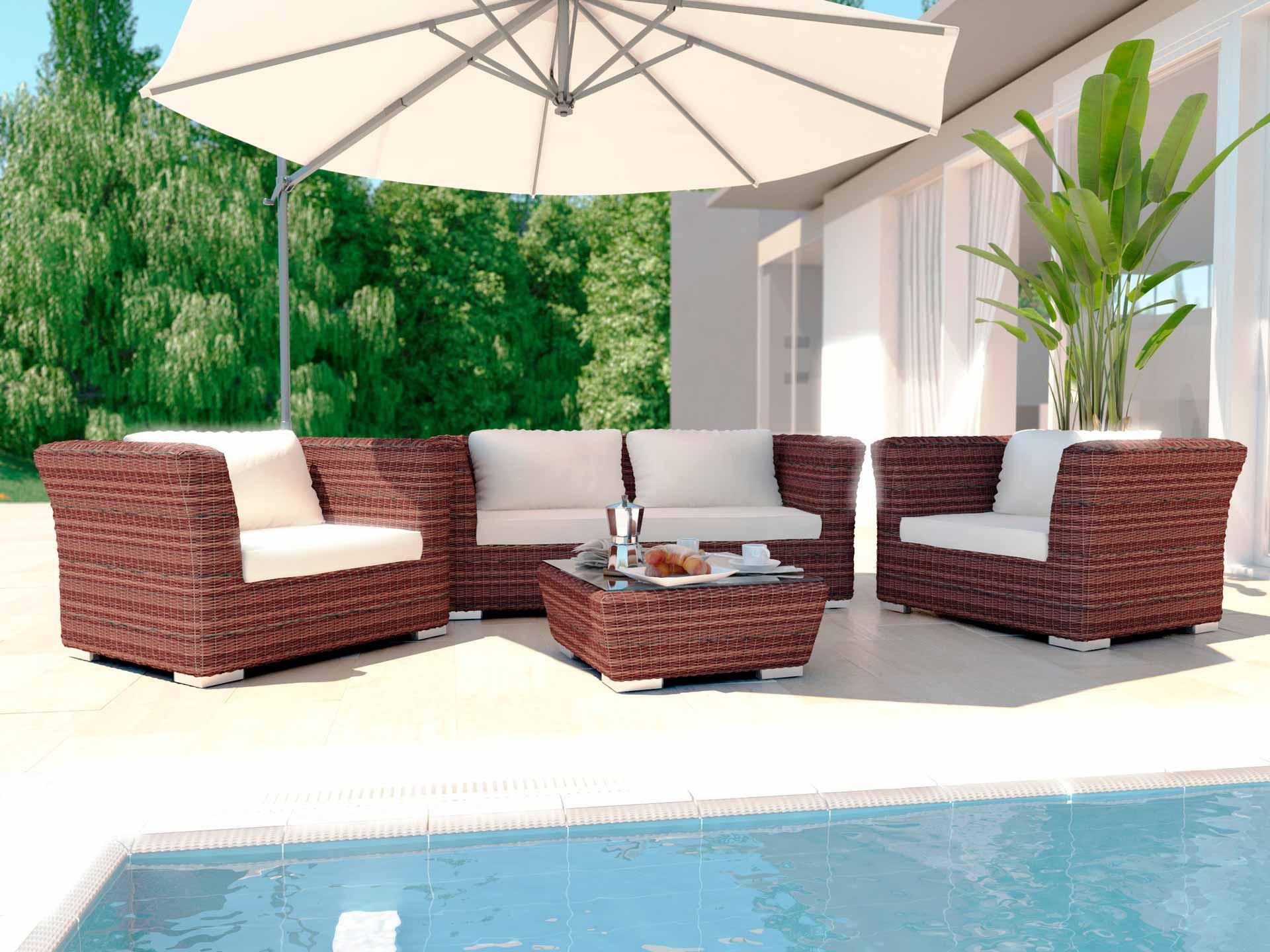 Artelia salotto da giardino for Balkonmobel rattan lounge